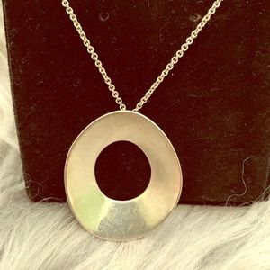 """T&Co Frank Gehry """"Morph""""  Silver 16"""" Necklace"""